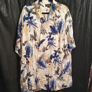 David Taylor 100% rayon Hawaiian shirt 2XL